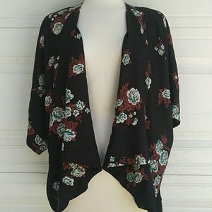 Pins and Needles Floral Kimono Style Cardigan